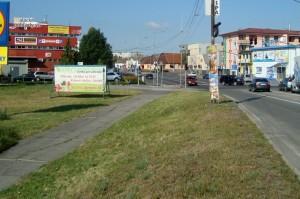 Križovatka a okolie, Malacky, 2014