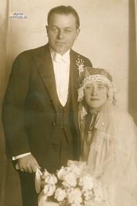 Martin Spusta s manželkou Pavlínou. 1927