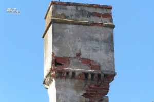 Komín pálffyovského zámku v Malackách.
