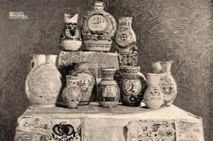 Keramika zo Spitzerovho múzea v Sološnici. Foto Magyarország vármegyéi és városai