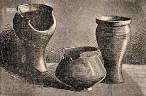 Nádoby z rímskeho obdobia. Foto Magyarország vármegyéi és városai