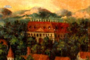 Malacký pálffyovský zámok v polovici 19. storočia.