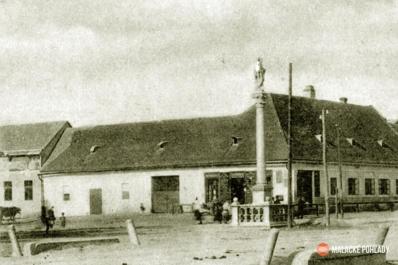 Mierové námestie v Malackách 1911