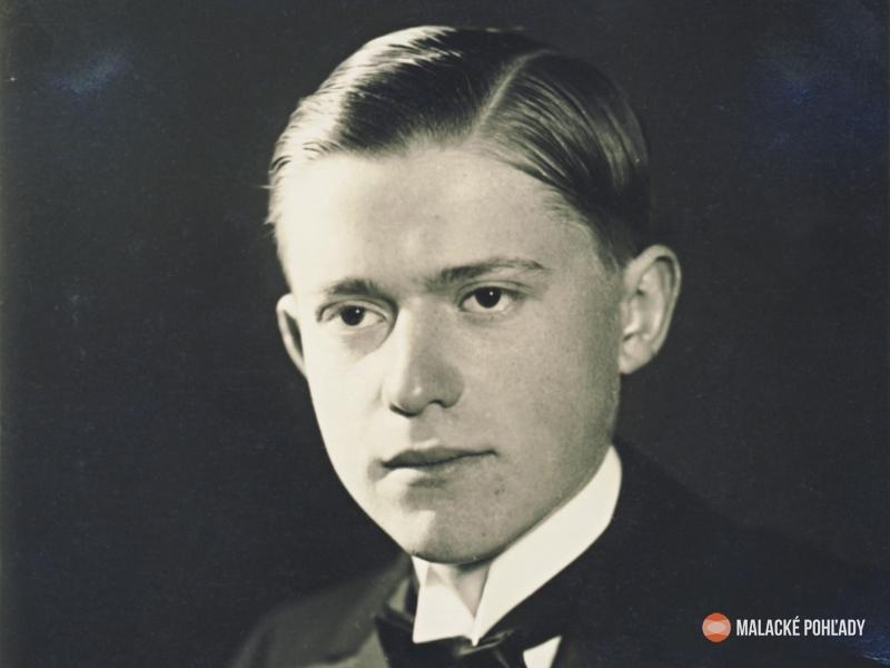Július Trebišovský ako maturant