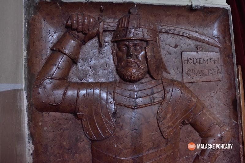 Náhrobok Melichara Balassu. Sološnica
