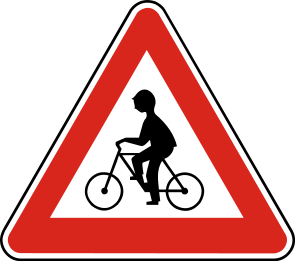 Osadenie značiek pre ochranu cyklistov