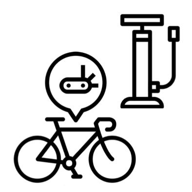 Stojan prvej pomoci pre cyklistov