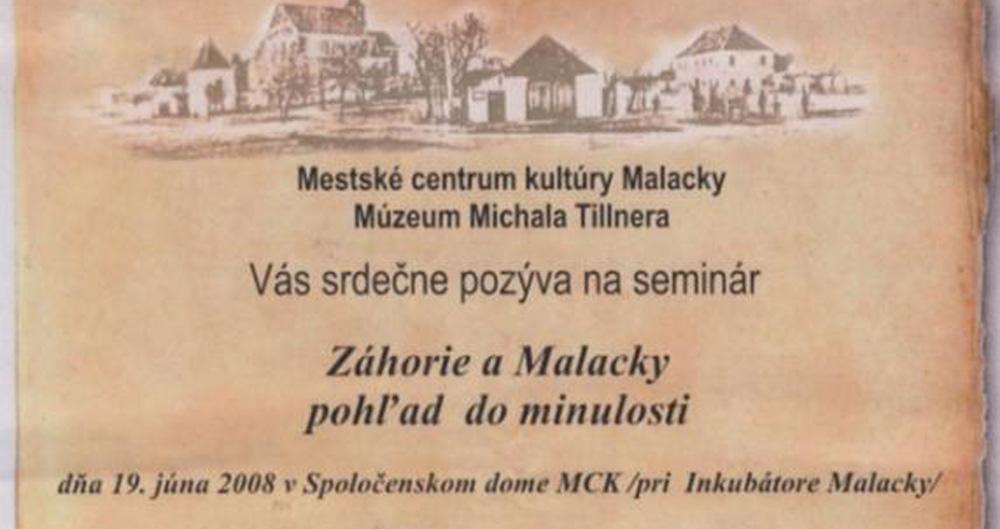 Prednášky o dejinách nášho mesta