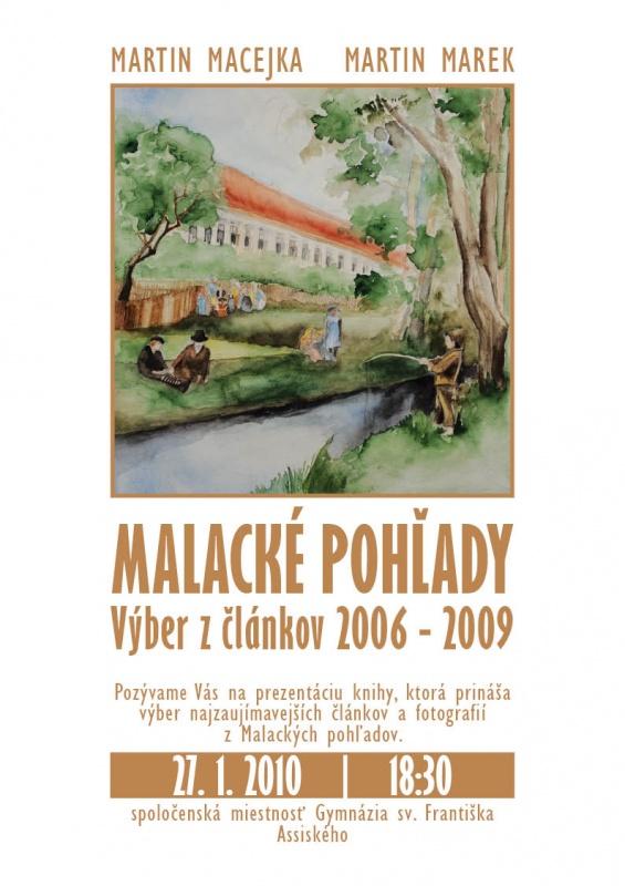 """Prezentácia knihy """"Malacké pohľady - Výber z článkov 2006 - 2009"""""""