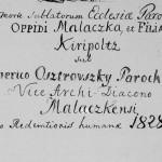 Malacký farár v polovici 19. storočia - Imrich Ostrovský