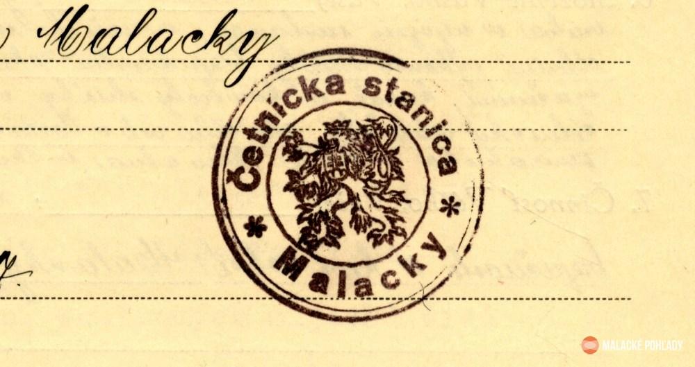 Činnosť malackého četníctva v roku 1921