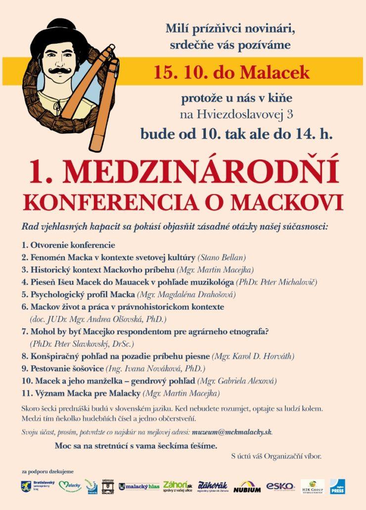 1. medzinárodňí konferencia o Mackovi, Malacky
