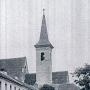 Oprava veže Čierneho kláštora v roku 1916