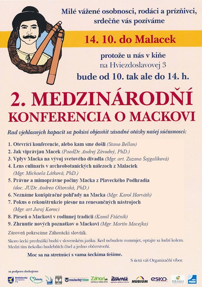 2. medzinárodňí konferencia o Mackovi, Malacky