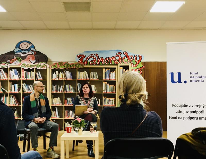 Literárny večer Denisy Fulmekovej so Zuzanou Šeršeňovou a Viktorom Suchým