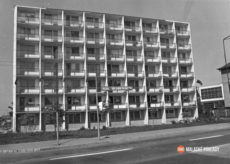 Mierové námestie, Malacky, okolo roku 1980