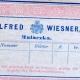 Alfred Wiesner Malaczka, firemný štítok