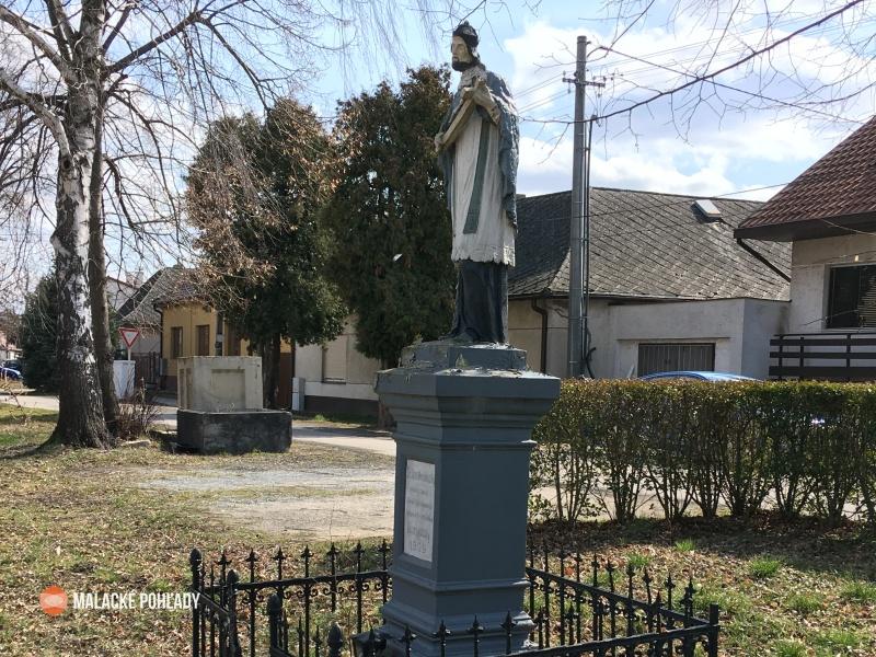 Socha sv. Jána Nepomuckého z roku 1909, Malacky