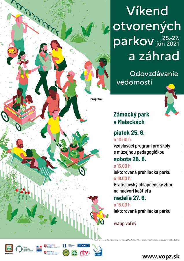 Víkend otvorených parkov a záhrad, Malacky 2021